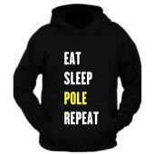 Hoodie - Eat, Sleep, Pole, Repeat